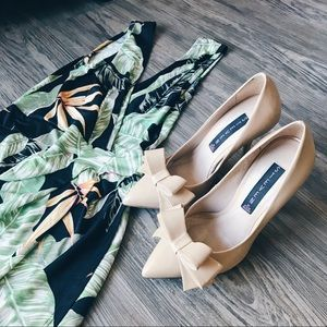 Steve Madden Nude Stilettos with Bow